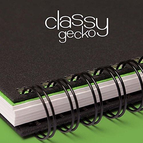 Artgecko classy album per schizzi a3 orizzontale 80 pagine (40 fogli) di carta 150gsm acido libero bianco cartuccia
