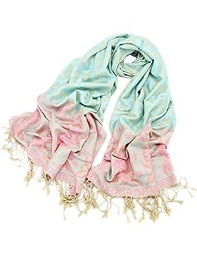 Manta Impreso Larga De Las Mujeres Del Mantón Elegante Suave Caliente Del Cabo De La Bufanda Invierno Otoño Borlas...