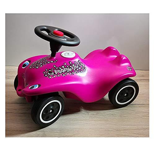 Unbekannt Big New Bobby Car CAT Girl pink schwarz mit Flüsterräder - be112