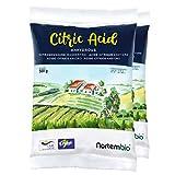 Nortembio Acido Citrico 1 kg (2x500g). Polvere Anidro, 100% Puro. per Produzione Biologica. E-Book Incluso.