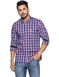 Indigo Nation Men's Checkered Slim Fit Cotton Casual Shirt