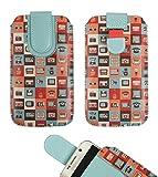 emartbuy Gadgets Premium-Pu-Leder-Slide In Case Abdeckung Tashe Hülle Sleeve Halter (Größe 4XL) Mit Zuglaschen Mechanismus Geeignet Für Die Unten Aufgeführten Smartphones