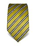 Vincenzo Boretti Herren Krawatte reine Seide gestreift edel Männer-Design gebunden zum Hemd mit Anzug für Business Hochzeit 8 cm schmal/breit grün