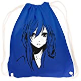 vanVerden Sport Turnbeutel Blue Anime/Manga Girl/Comic inkl. Geschenkkarte, Color:Bright Royal (Blau)
