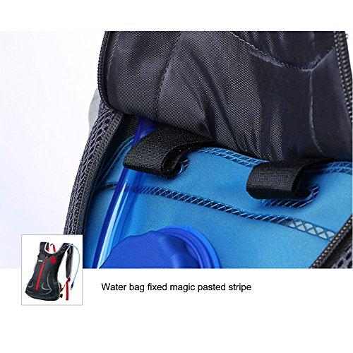 Radfahren Rucksack, 20L Wasserdicht Atmungsaktiv Fahrrad Hydration Rucksack mit Wasser Blase und helmet-mounted Mesh Tasche für Laufen, Wandern, Radfahren, Mountainbiken Orange