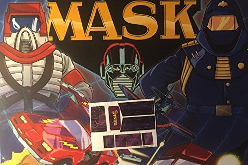 Máscara Vintage Repro troquelado pegatinas/calcomanías/etiquetas