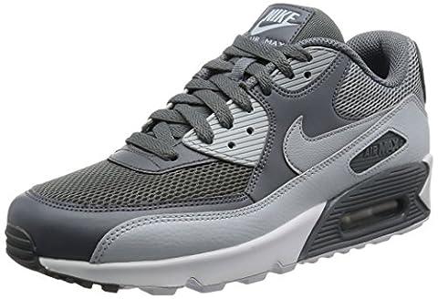 Nike Herren Air Max 90 Essential Laufschuhe, Mehrfarbig (Cool Grey/Wolf Grey/Pure Platinum/White), 43 EU
