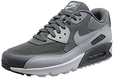 NIKE Men's Air Max 90 Essential Running Shoes, Multicolor (Cool Wolf Grey/Pure Platinum/White), 11.5 UK