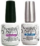 Gelish Top + Base Foundation Gel Soak off Gel Polish 15ml 0.5oz each