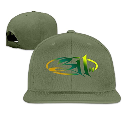 thna-311-band-logo-adjustable-fashion-baseball-cap-forestgreen