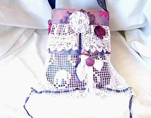 Handmade shabby boho hippie doily Lace shoulder bag, Hippie tote bags, Shabby lace bag, Shoulder bag, Gypsy bag, Upcycled bag, - handmade-bags