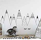 Decorazione della casa PVC protezione ambientale Nordic picco di montagna bambini adesivi murali d'arte soggiorno decalcomanie decorazione camera da letto@58x140cm