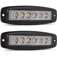 YuanGu 18W Led barra de luz de trabajo Luz LED diurna delgada 12V 24V con 1800LMS