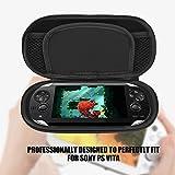 VBESTLIFE Schutzhülle Tasche Carry Pouch Reisetasche für Sony PS Vita(Schwarz)