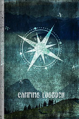 Camping Logbuch: Wohnwagen Reisetagebuch - Zelten, Wohnmobil Camper Van Reise Tagebuch Journal - Caravan Reisemobil Notizbuch - Retro Vintage Design