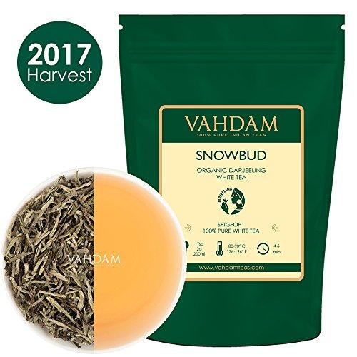 Tè bianco biologico in foglie silver needle dal darjeeling (25 tazze), il tÈ piÙ salutare al mondo, direttamente dalle piantagioni d'alta quota dell'himalaya – 50g