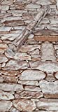 Visario Folie selbstklebend 10m x 45cm 5 Motive Steinoptik Steine Dekorfolie Möbelfolie (3008)