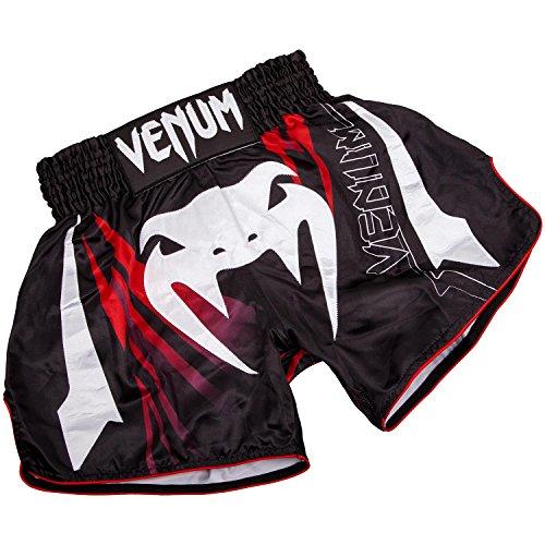 Venum Sharp 3.0 Pantalones Cortos de Muay Thai, Hombre, Negro/Rojo, M