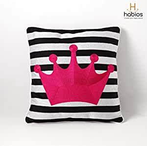Cushion Cover - Crown Candy Pink - Habios