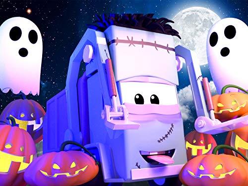【Halloween ! 】Spinnwben/Geisterbahn / Klein Francis stecken zwei Kürbisse auf seiner Gabel/Steve die Dampfwalze