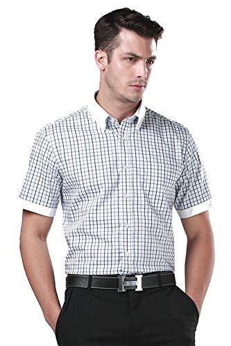 Menschwear Camisa para hombre manga corta Shirt Slim Fit