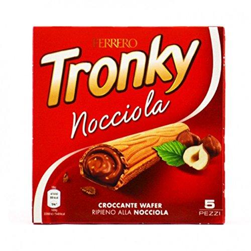Preisvergleich Produktbild Kinder Ferrero Tronky Croccanti Wafer alla Nocciola - 90 gr,  Confezione da 5
