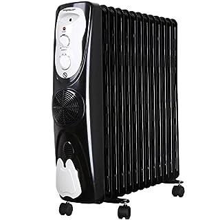 Aigostar Protector 33JHG - Tragbarer ölgefüllter Heizkörper, 13 Lamellen, 2800Watt, sichere Wärme mit Warmluft-System und Thermostat-Steuerung. EINWEGVERPACKUNG.