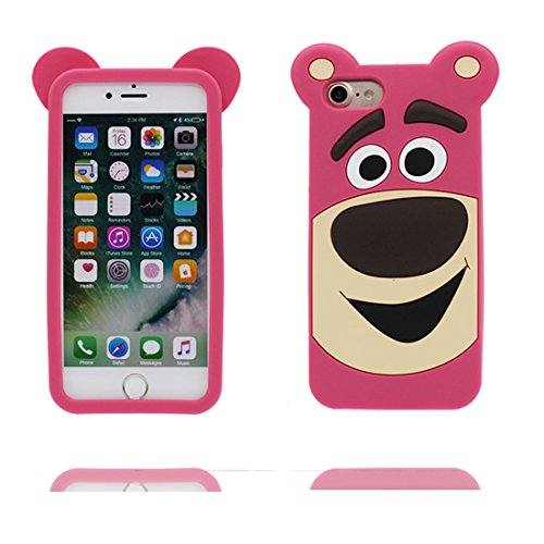 "Hülle iPhone 6 Cover, 3D Cartoon Japan Cartoon Verstecktes Gesicht, Case iPhone 6s Handyhülle, TPU Flexible Durable Shock Dust Resistant, Shell iPhone 6 Cover 4.7"" rose"