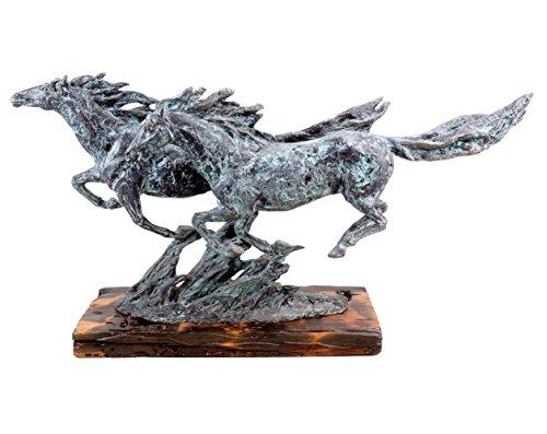 Moderne Kunst - Wild Horses - Galoppierende Pferde - signiert Milo - limitiert - Pferde Skulptur - Tierfiguren online kaufen - Modern Art Bronzefigur