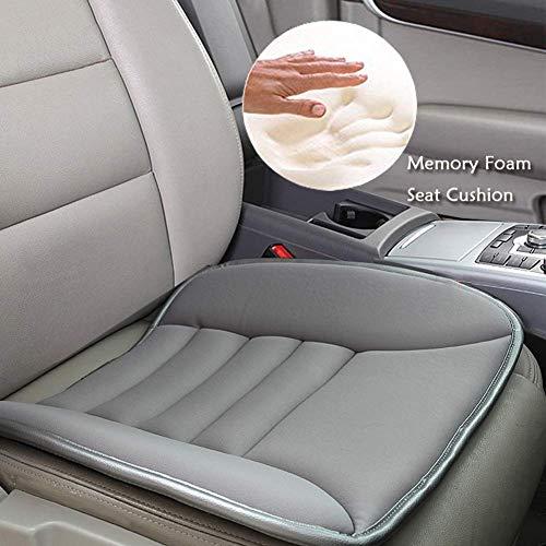 Big Ant Sitzauflage Auto Sitzkissen Auto weiche Sitzkissen Orthopädische Kissen Sitzbezug Pssst für Autositz Bürostuhl Rollstuhl (Grau - 1 Stück)