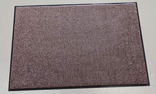 Efia Matte Nougat SLU3020-050x075 Fußmatte 50x75cm Nougat braun Teppich-Vorleger Teppiche Matten Salonloewe wash Läufer Fußabstreifer