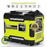 Hortipower Generatore di Corrente 2000W Inverter portatile Silenziato a Benzina