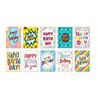 """20""""Words"""" Design Birthday Cards & Envelopes by Greetingles. 10 Designs. Made in UK"""