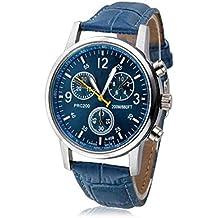 ZEZKT Retro Herren-Armbanduhr| Modisch Zeitloses Design Klassisch PU Leder | Quarzuhr Armbanduhr Elegant | Quartz Analog Armbanduhr | Edelstahlgehäuse | Quarzwerk Sport Stil Einfach Casual (A)