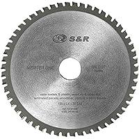 S&R Hoja de Sierra Circular 190 x 30 x 2,4mm 54 Dientes. Disco Corte de Madera y Plastico