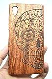 Sony Xperia Z5 Premium Hülle, Holzsammlung® Holz Tasche für Sony Xperia Z5 Premium (Roseholz Schädel) - Holzsammlung® Handgefertigt Hölzernen Fall und Abdeckung für Ihr Smartphone und Tablet PC