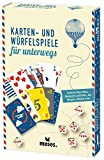 Moses 81716 Fernweh Karten-und Würfelspiele für unterwegs, 15 Spiele inklusiv Mau, Siebzehn und Vier, Mogeln und Mäxle