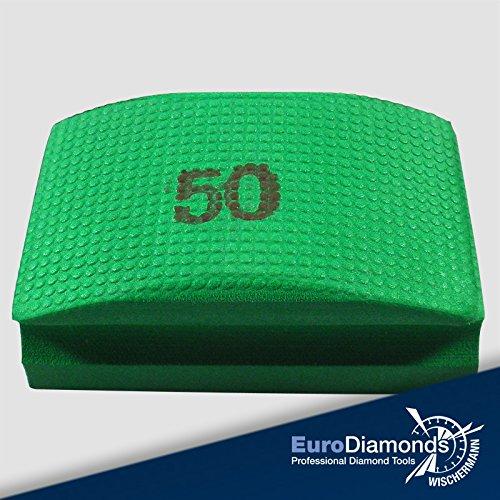 Das Original Profi Diamant Handschleifpad, Körnung 50, ideal zum Polieren und Entgraten von Naturstein- und Glaskanten für Granite, Natur- und Kunststein, Marmor, bestens geeignet für alle Modellierarbeiten,