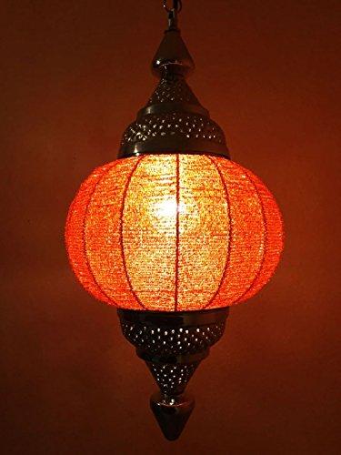 Orientalische Deckenlampe Lampe Shadia orange