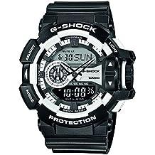 Casio G-Shock – Reloj Hombre Analógico/Digital con Correa de Resina – GA-400-1AER