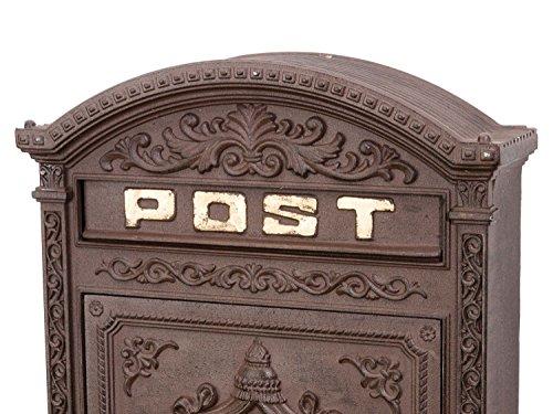 Briefkasten Wandbriefkasten Alu Nostalgie Postkasten braun antik Stil letterbox - 5