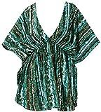 LA Leela Breve Bikini v Collo delle Donne Coprire Il Bagno Informale Costumi da Bagno Vestito Verde_X871 IT Taglia: 46 (L) - 50 (XL)