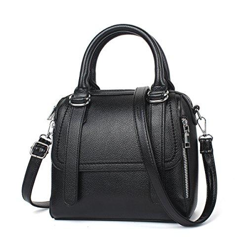 Schulter Handtasche Troddel ZHI Damen weiche Beutel PU Black WU Beutel Kurier Lederne Handtasche 8APUExqw