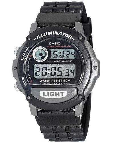 Casio - W-87H-1VHEF - Herrenarmbanduhr - Quarzuhrwerk - Multifunktion - Bracelet Edelstahlband Silber Digital Illuminator