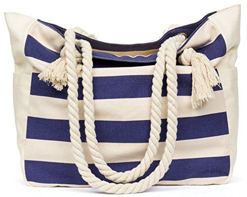 La bolsa de asas del viaje de la lona de la playa (rosa, verde, azul,...