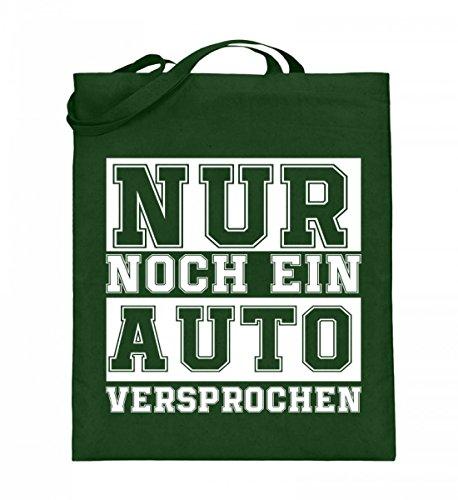 Hochwertiger Jutebeutel (mit langen Henkeln) - Nur noch ein Auto Grün