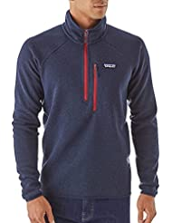 Patagonia M's Performance Better Sweater 1/4 Zip Navy Blue L