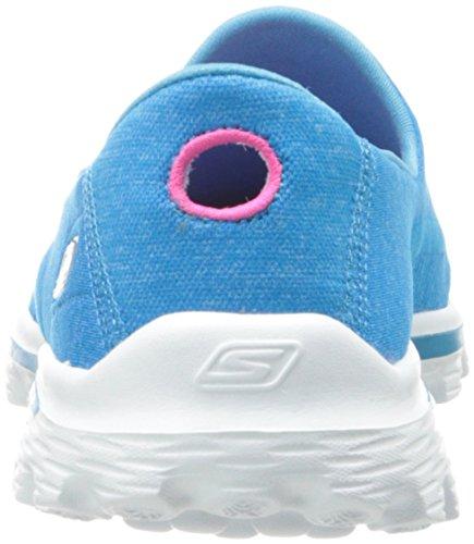 Skechers Gowalk 2 Supersock, Baskets mode femme Bleu (Turquoise)
