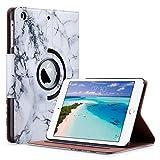 ULAK iPad Mini 2 Hülle, iPad Mini 2/3 Case 360 PU Leder Tasche Flip Case für iPad Mini 1/2/3 mit Ständerfunktion Auto Sleep/Wake-Funktion und Stift Slot (marmor)