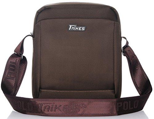 Binlion TAIKES Men's Shoulder Travel Messager Bag Crossbody Ipad Bag Daypack Red-4